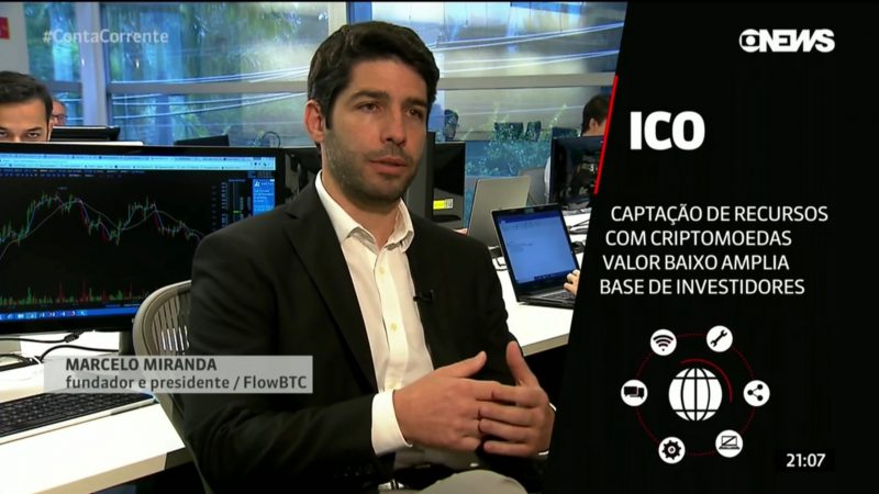 FlowBTC fala sobre ICOs no Conta Corrente da GloboNews
