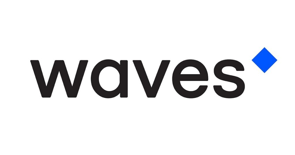 logo da altcoin waves