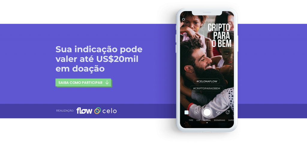 FlowBTC e CELO Campanha Cripto para o Bem #celonaflow #criptoparaobem